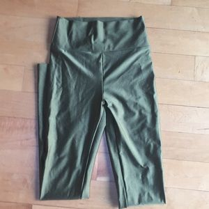 Natalie sports wear Army/ Olive green leggings